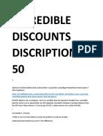 Incredible discounts description 1-50