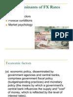 Determinants of FX Rates
