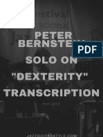 Peter Bernstein Solo on Dexterity Transcription with TAB