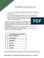 SS1 - Indicatori e valutazione intermedia e finale (dell'IRC)