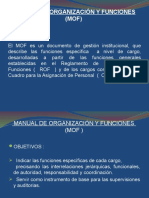 EL MANUAL DE ORGANIZACIÓN Y FUNCION (MOF) n° 1
