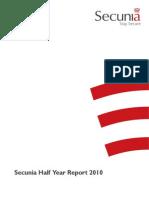 Secunia Half Year Report 2010