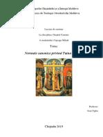 Normele Canonice Privind Taina Preoției