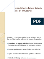 Experimental Adhesive Failure Criteria for Analysis  of   Structures.pptx