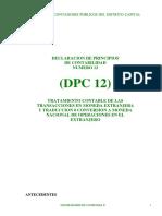 DPC !2 transacciones en moneda extranjera