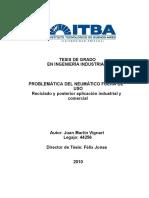 Problemática del neumático fuera de uso reciclado y posterior aplicación industrial y comercial