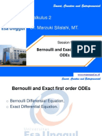 CTI212 Calculus 2 -sesi-9 Bernoulli and Exact first order ODes (2) (2).ppt