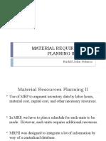 Material Requirements Planning II (Mrp II)