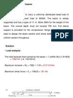 Design of compund beam-example