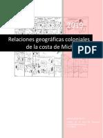 Relaciones de La Costa de Michoacán