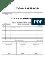 DC-PR-AC-06 - CONTROL DE ALERGENOS