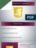 Cours - Langage de script (Javascript)