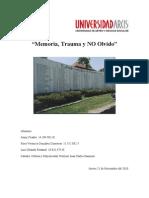 Trabajo Sobre la Memoría el Trauma y el Olvido OK-1