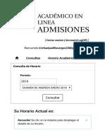 Académico en Línea Admisiones _ Consultar Mi Horario