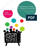 Archaeology on Stage or Staging Archaeology - BA thesis Lara Wegdam