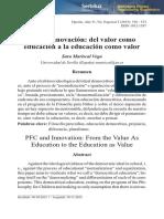 FPN e innovación del valor como