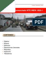 2018 Hormigón Premezclado INEN 1855 nuevo