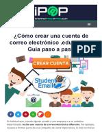 【 CREAR CUENTA Correo .EDU 】▷ Guía Paso a Paso ▷ +Truco 2019