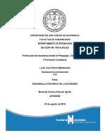DESARROLLO HISTORICO DE LA ECONOMÍA