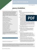 adolescent pregnancy guideline