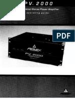 AmplifierPV2000