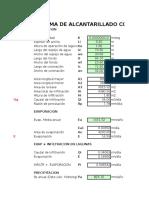 Calculo caudal de infiltracion y precip.xls