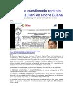 GRT firma cuestionado contrato de Vilachaullani en Noche Buena