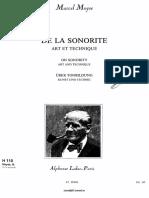 Moyse flute De La Sonorite