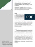 Desenvolvimento Sustentavel e a Ordem Economica