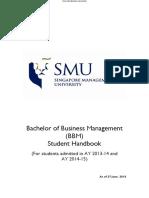 BBM Student Handbook_(Intake AY13-14 and AY14-15)