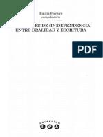 Ferreiro Emilia - Relaciones De (In)dependencia Entre Oralidad Y Escritura.pdf
