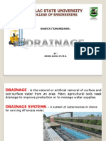 drainage and slopes