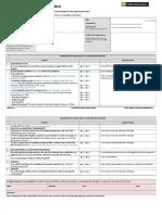 Chemical Checklist