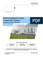 Kitchen Equipment Tender Evaluation