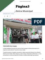 Inauguran la Botica Municipal _ Página3