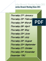 Branch Meeting Dates 2011 PDF