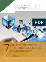 7 PreImplementation Steps for A Successful Implementation