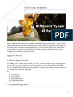 What Are the Different Types of Resins