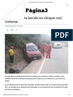 Chofer resulta herido en choque con cisterna _ Página3