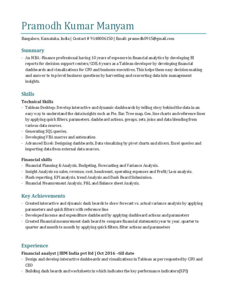 Pramodh Tableau Docx Data Analysis Income Statement