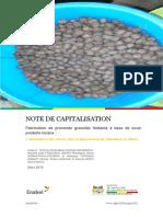 Fabrication de Provende Granulee Flottante a Base de Sous-produits Locaux