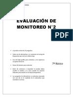 EVALUACION DE MONITOREO LENGUAJE 7BASICO