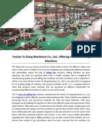 Foshan Te Xiang Machinery Co., Ltd.