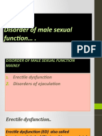 disorder of male sexual function
