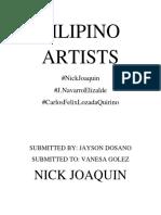 FILIPINO ARTIST