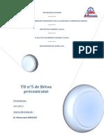 BETON PRECONTRAINT BTP4 G1 TD T