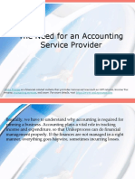 The Need for an Accounting Service Provider