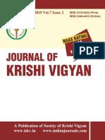 Journal of Krishi Vigyan vol 7 issue 2