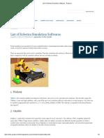 List of Robotics Simulation Softwares - Ruijiao Li