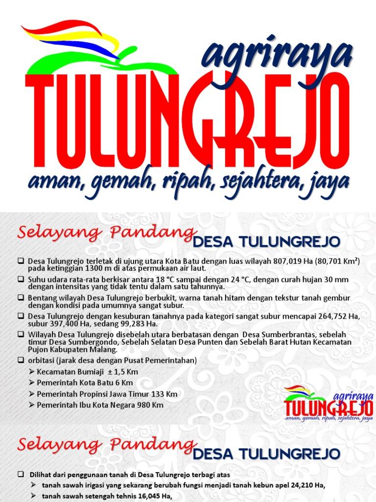Presentasi Selayang Pandang Tulungrejo Pdf